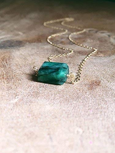 (Green Emerald Necklace 16