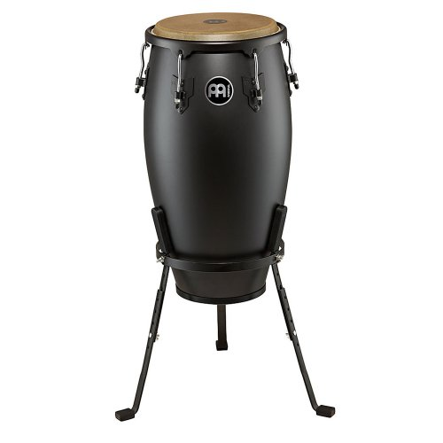 Meinl Percussion HC12PBK-M Headliner Designer Series 12-Inch Conga with Basket Stand, Phantom Black