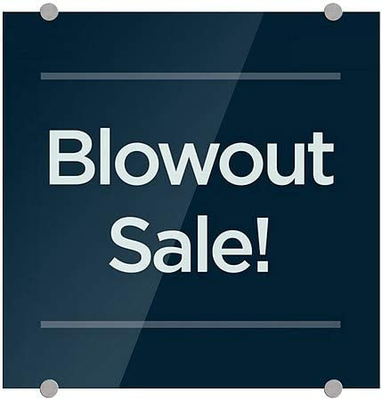 5-Pack 18x12 Blowout Sale CGSignLab Victorian Card Premium Acrylic Sign