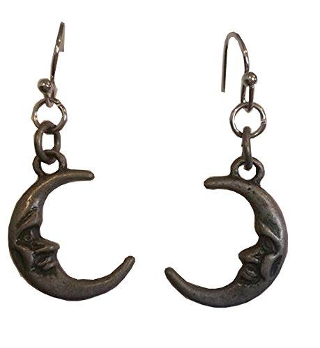 Crescent Moon Dangle Earrings - Homemade Fairy Tale Costumes For Men