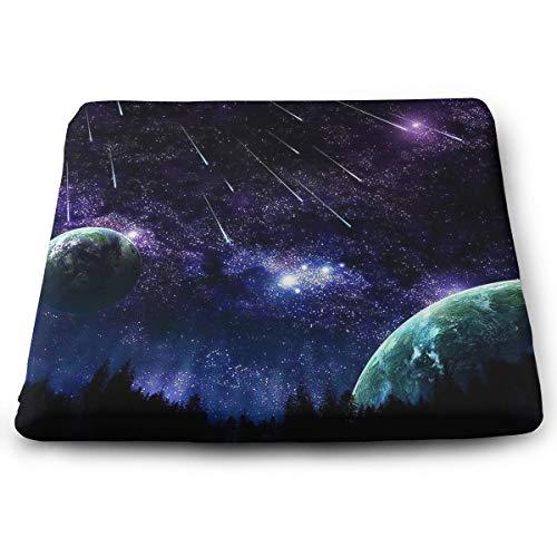 Comfortable Seat Cushion Chair Pad Blue Night Sky Meteor Perfect Memory Foam Cushions Lighten The -