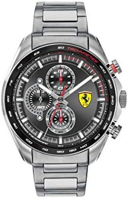 Ferrari Men s SPEEDRACER Quartz Watch with Stainless Steel Strap, Silver, 22 Model 0830652