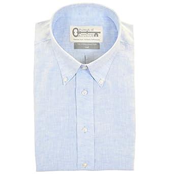 St. Michael's, Sky Blue Short Sleeve Men's Button Down Shirt ...