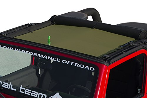 ALIEN SUNSHADE Jeep Wrangler Mesh Shade Top Cover with 10 Year Warranty Provides UV Protection for Your TJ Front Passengers (1997-2006) (Tank)