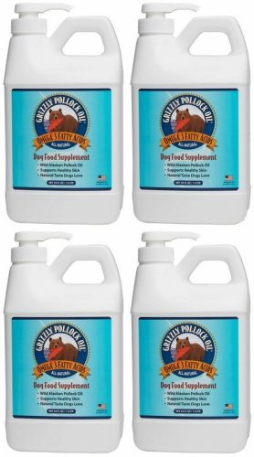 Grizzly Pollock Oil for Dogs 256oz (4 x 64oz) by Grizzly