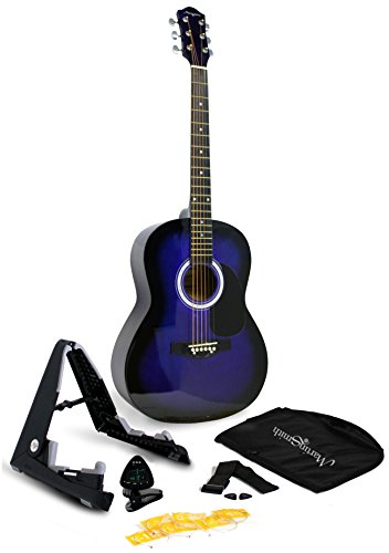 Martin Smith 6 String Acoustic Guitar SuperKit with Stand