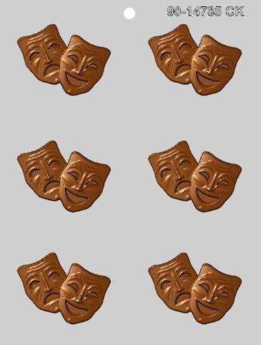 CK Products 2-1/2-Inch Comedy & Tragedy Mask Chocolate -