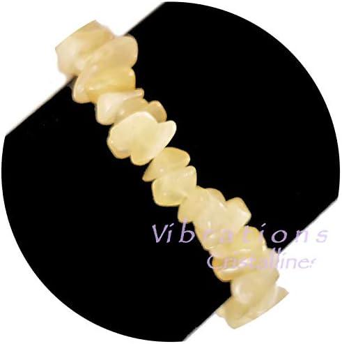 Vibrations Cristallines - Pulsera barroca de calcita amarilla