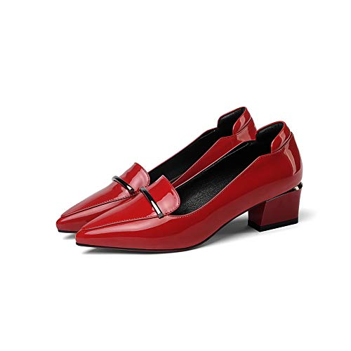Shoes Womens Red Business Solid Novelty Pumps APL10852 Urethane BalaMasa wS4qZvxYq