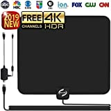 HD TV Antenna Indoor, Updated 2018 Newest HDTV Digital 4K / 1080P Antennas
