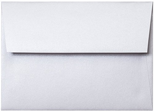 A-7 Envelope - Pearl White Shimmery Metallic Envelope (5.25 x 7.25) - 50 Envelopes from Paper and -