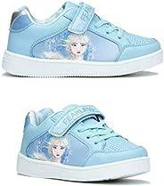 Disney Frozen II Elsa and Anna Fearless Girls Sports Kids Trainers, Children Lightweight Shoes