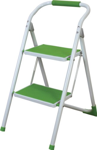 AZUMAYA Folding Step Stool Ladder Green LFS-007GR by Azumaya Japan