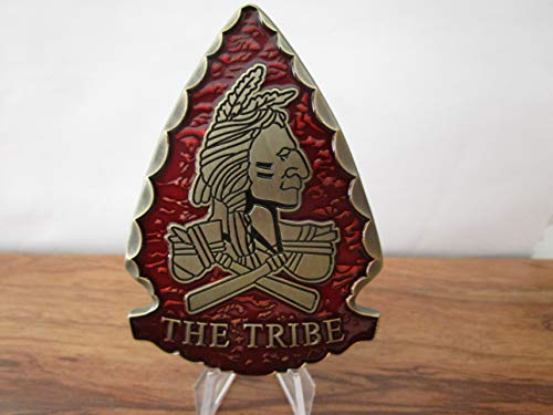 United States Special Operations Command Navy Seal Team VI The Tribe Red Squadron DEVGRU Arrowhead Shape Challenge Coin