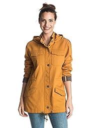 Roxy Juniors Fancy Durban Military Jacket, Honey Mustard, X-Small