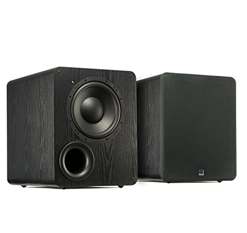 Dual SVS PB-1000 Subwoofers (Black Ash) – 10-inch Driver, 300-Watts RMS, Ported Cabinet