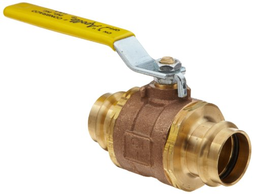 Apollo 77WLF Series Bronze Ball Valve, Potable Water Service, Two Piece, Inline, Lever, 1/2