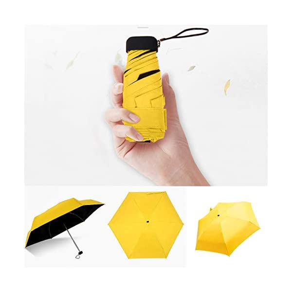 MaNMaNing Ombrello piatto mini leggero per ombrellone Parasole pieghevole portatile Ombrello perfetto Regalo di Natale o… 3 spesavip