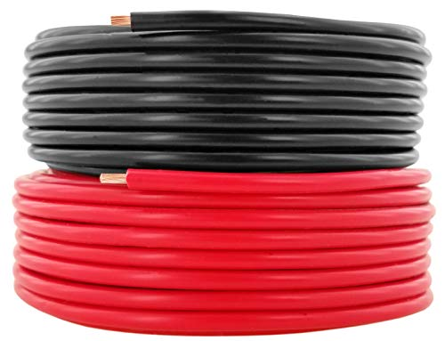GS Power 14 AWG (American Wire Gauge) Pure Copper Primary Wire for Car Audio Speaker Amplifier Remote 12 Volt DC Automotive Trailer Harness Hookup Wiring. 15 feet Red, 15 ft Black Combo