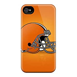 High Impact Dirt/shock Proof Cases Covers For Iphone 4/4s (cleveland Browns)