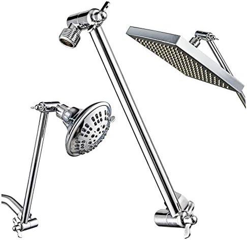 Srmsvyd シャワーアーム 11インチ 調節可能なシャワーヘッド延長アーム 高さと角度を簡単に調整