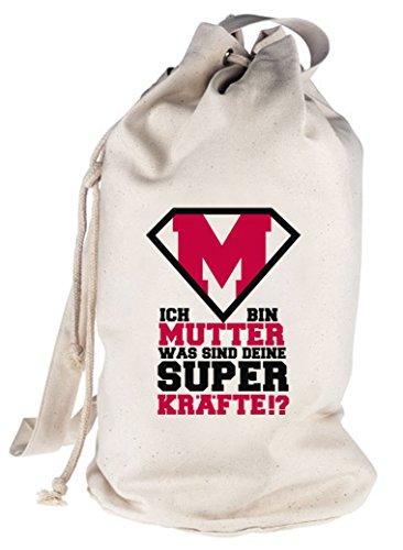 ShirtStreet Geschenkidee bedruckter Seesack Umhängetasche Supermutter Motiv Natur
