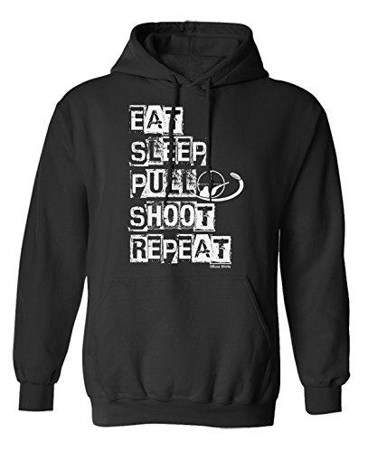 Eat Sleep Pull Shoot Repeat Gun Hoodie Or Sweater Mens Ladies Unisex