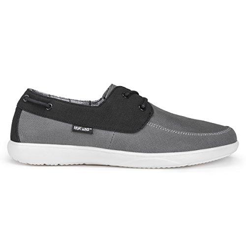 Muk Luks Mens Theo Shoes Sneaker Grigio