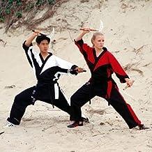 "ProForce Demo Team Karate Uniform - Black & Red 00 - (Child Size 10-12) 4'4""/60 lbs. Ea. 1 packs"