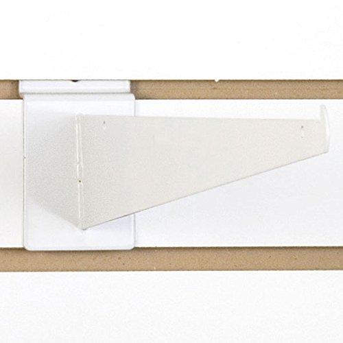 White Slatwall Shelf Bracket - Count of 10 New Retail Heavy Duty Slatwall White Shelf Bracket 16