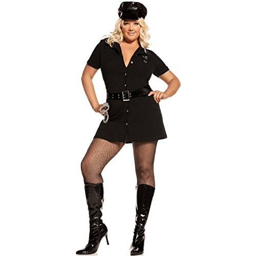 Officer Arrest Me Costume - Plus Size 1X/2X - Dress Size 18-22 (Convict Lady Plus Size Costume)