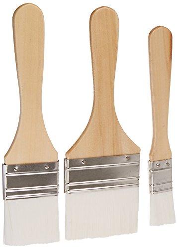(Plaid Enterprises Plaid Enterprises Nylon Chip Brush Set, 44289 White )