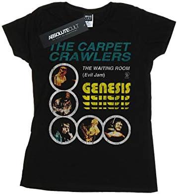 Genesis Damska The Carpet Crawlers T-Shirt Schwarz XX-Large: Odzież