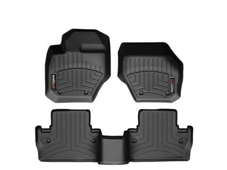 2011-2016 Volvo S60-Weathertech Floor Liners-Full Set (Includes 1st and 2nd Row) Black