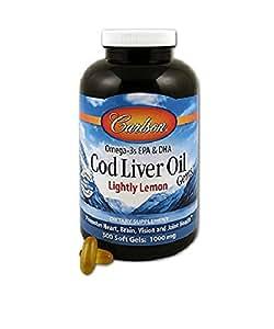 Carlson lightly lemon cod liver oil 1000mg for Carlson fish oil amazon