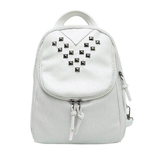 Domybest - Bolso mochila  para mujer Negro negro blanco