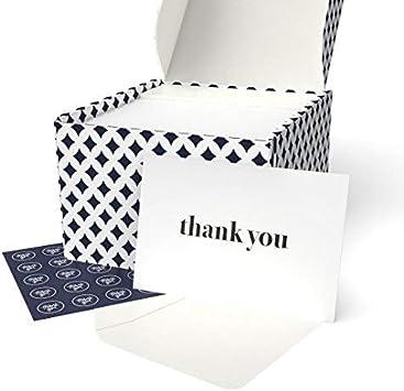 Amazon.com: Tarjetas de agradecimiento – 100 notas de ...
