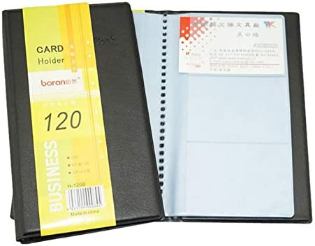 HOYURI Leather 120 Cards-Position ID Credit Card Holder Book Case Keeper Organizer New