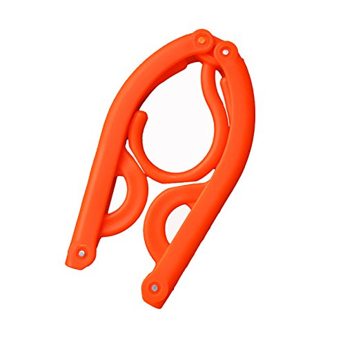 pqusno 1PCS Folding Plastic Hangers With Hooks For Clothes T