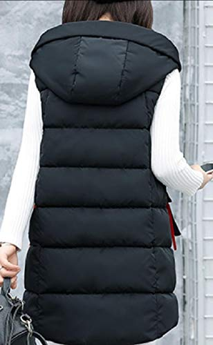 Mid Women's Length security Quilted Down Jackets Vest Puffer Black Winter qTRZOE