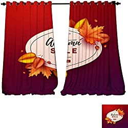 "Room Darkening Wide Curtains Thank you greeting card thanksgiving design Abstract geometric elements Layout template card invitation brochu Tie Up Window Drapes Living Room -W72"" x L108""/Pair"