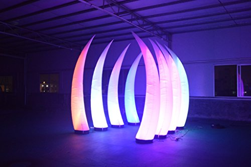 Inflatable LED Ivory Glowing in the Dark 6.56-feet High Lighted Tusk with Blower for Wedding Party by Sayok (Image #3)
