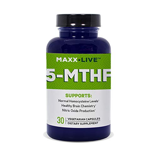 Maxx Live 5-MTHF Top Quality L-Methylfolate 15MG Professional Strength Active Folate B6 B12 30 ()