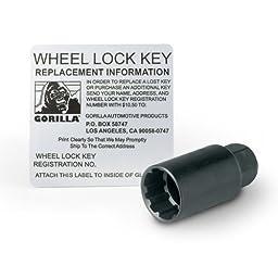 Gorilla Automotive 91783 Acorn Bulge Chrome Lug Nut and Lock System (1/2\