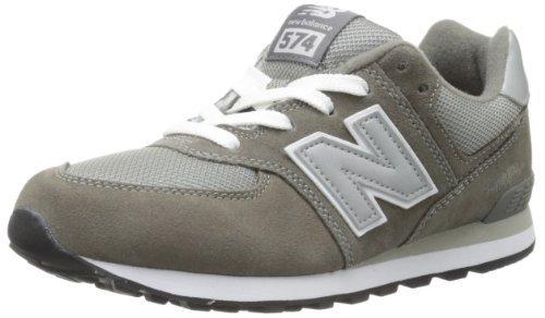 New Balance KL574 Grade Running Shoe (Big Kid), Grey/Silver, 4.5 M US - Hut Ny