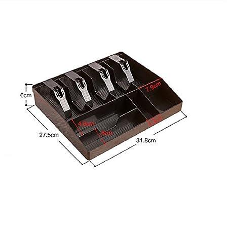 GUANHE ABS cajón de la caja registradora Caja de la caja registradora Nuevo Classify store Cajero moneda Cajón de la bandeja Bandeja ABS fuerte Cajón de la ...