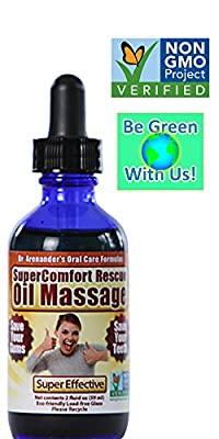 Organic TEETH & GUM Rescue OIL - SuperComfort Rescue Oil that Nourishes and Supports Healthy Teeth and Gums -- Helps with Gum Disease, Recession, Bleeding Gums, Inflammation & Sensivity