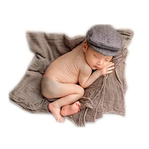 (Vemonllas Fashion Newborn Boy Girl Costume Outfits Baby Photo Props Hat Gentleman Cap (Black) )