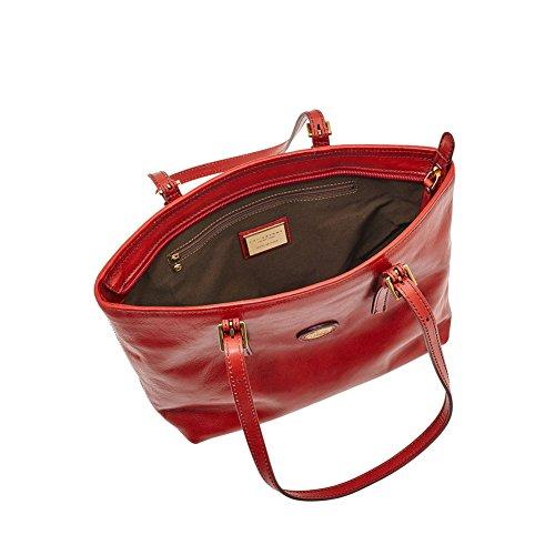 The Bridge Story Donna Shopper Tasche Leder 30 cm Rosso Ribes sM6C7