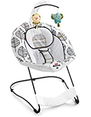 Fisher-Price See & Soothe Deluxe Bouncer, This Adorable Baby BouncerFeatures A Convenient, Hands-Free Bounce Pedal, So You Can Help YourBaby Bounce and Soothe All Playtime Long!